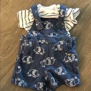 Cute baby boy overalls 6 months
